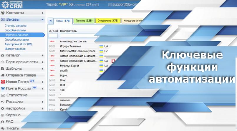 Ключевые функции автоматизации CRM системы