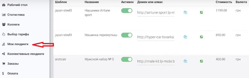 как дать доступ к лендингу другому пользователю